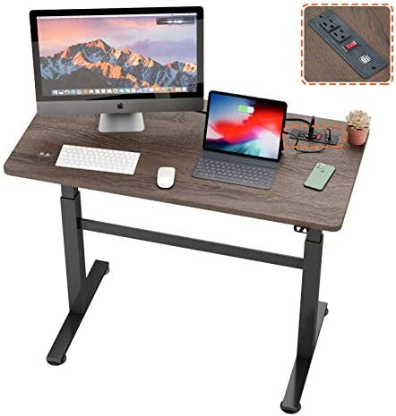 Bestier Electric Height Adjustable Desk 47 x 23 inch Tabletop Motorized Standing Workstation product image