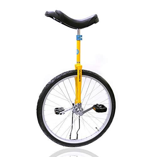 どのスポーツのトレーニングにも一輪車は最適。 バランス感覚・体幹を鍛えられます!MYS ULTIMATE オリジナルモデル【UC-14】イエロー 日本一輪車協会認定 ベルマーク参加商品 一輪車 ユニサイクル キッズ 大人 プレゼント 24インチ スポーク