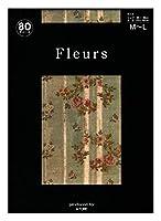 Fleurs(フルール) FZ-1666 プリントタイツ シカゴ美術館 シリーズ レース柄 花柄 日本製 80デニール 50デニール展開 (80デニール L~LL)