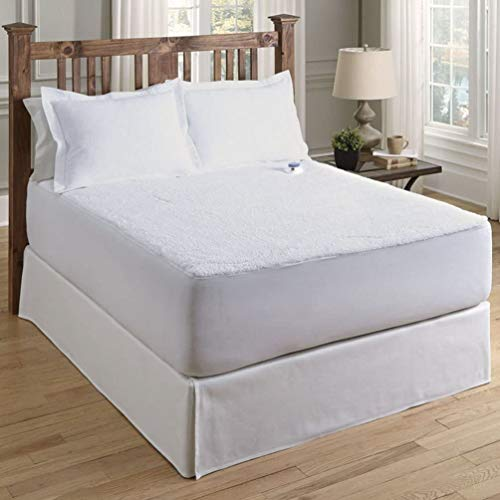 Serta   Luxurious Sherpa Heated Electric Mattress Pad with Safe & Warm Low-Voltage Technology (Queen)
