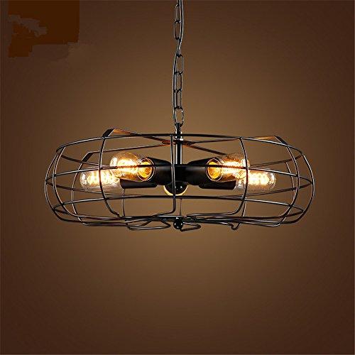 Elektrische plafondventilator, 5-light led-plafondlamp, industriële retro plafondlamp, ijzeren creativiteit woonkamer slaapkamer eetkamer balkon lamp voor E27