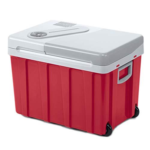 HALIGHT 40l Refrigerador Coche con Ruedas, alimentación 12 V / 240 V, Nevera portátil eléctrica, Nevera pequeña con asa Bloqueo automático y congelador, Viajes y acampadas