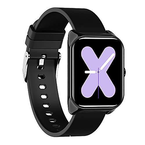 GBHN WatchSmart Horloge Sport hartslagmeting Bluetooth volwassenen oudere horloges waterdicht sporthorloge buitenshuis met wekker/timer, size, zwart