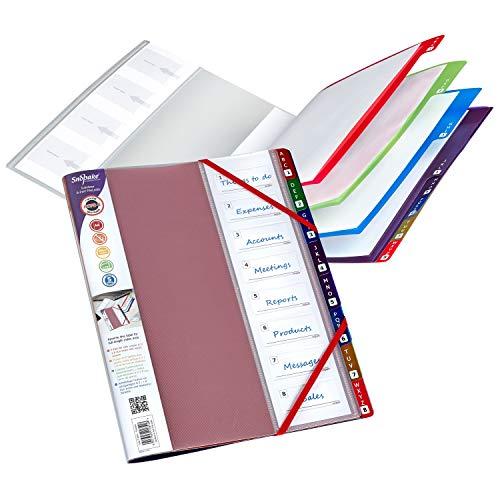 Snopake File 15804 Registermappe, 8-teilig, Regenbogenfarben, 1 Stück
