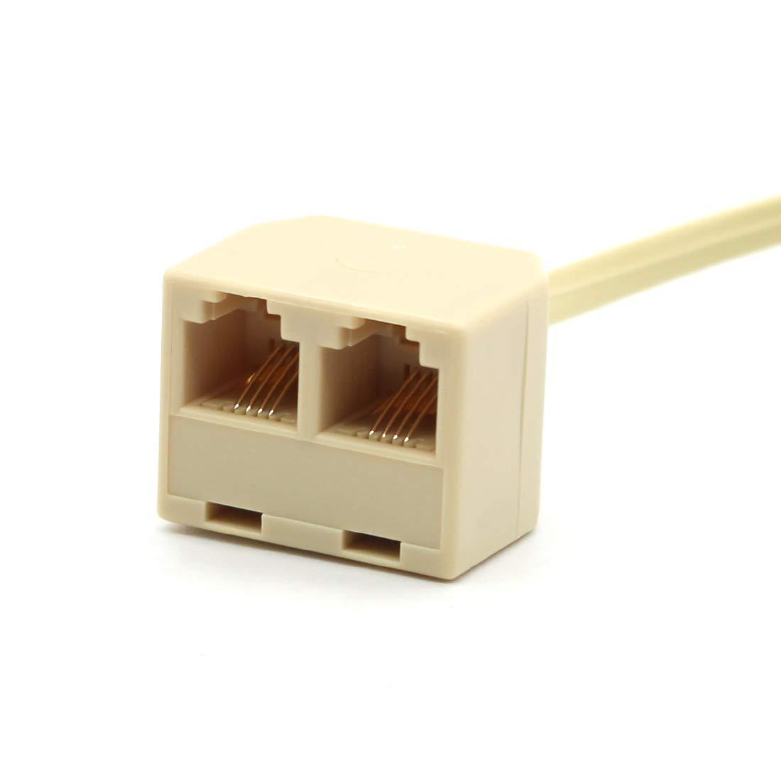 2 of Pack RJ45 to BT RJ11 Secondary Splitter Telephone Adapter RJ45 Plug Male TO BT RJ11 Femle Cord Separator for Converter RJ45 wall Socket to BT RJ11 Socket Connector Ethernet Secondary Phone Line