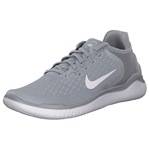 Nike Mens Freen RN 2018 Low Top Lace Up Running, Wolf Grey/White/Volt, Size 8.5