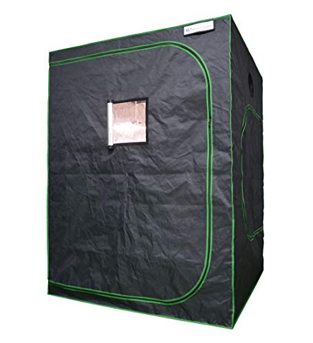 Growtent Garden 60'x60'x80' Reflective 600D Mylar Hydroponic Grow Tent with Observation Window and...
