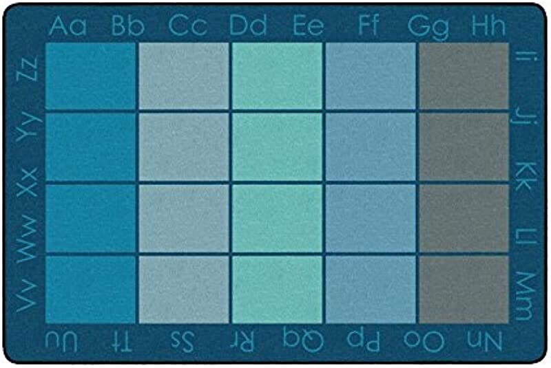 Childcraft Alphabet Squares Carpet 6 X 9 Feet Rectangle Cool