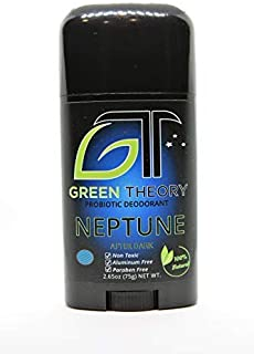 Green Theory Probiotic Natural Deodorant - Neptune | Natural Ingredients, Aluminum-Free, Non-Toxic | Mens After Dark Collection - Cologne Scented | Solid Stick - 2.65 ounces