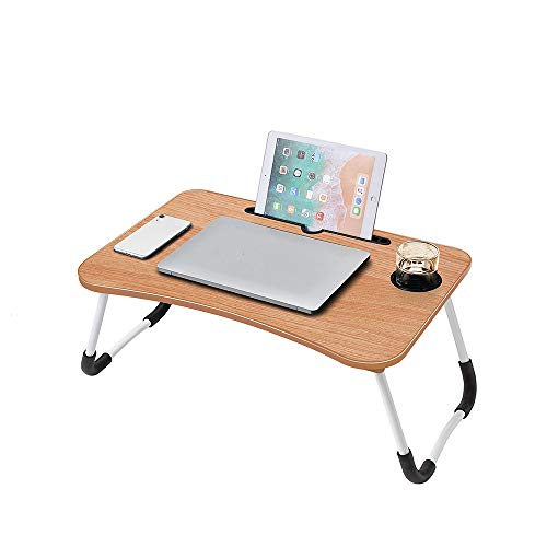 Lap Desk, Foldable Lap Desk Stand, Multifunction Lap Tablet with Cup Holder Perfect for Perfect for Watching Movie on Bed Or As Personal Dinning Table...
