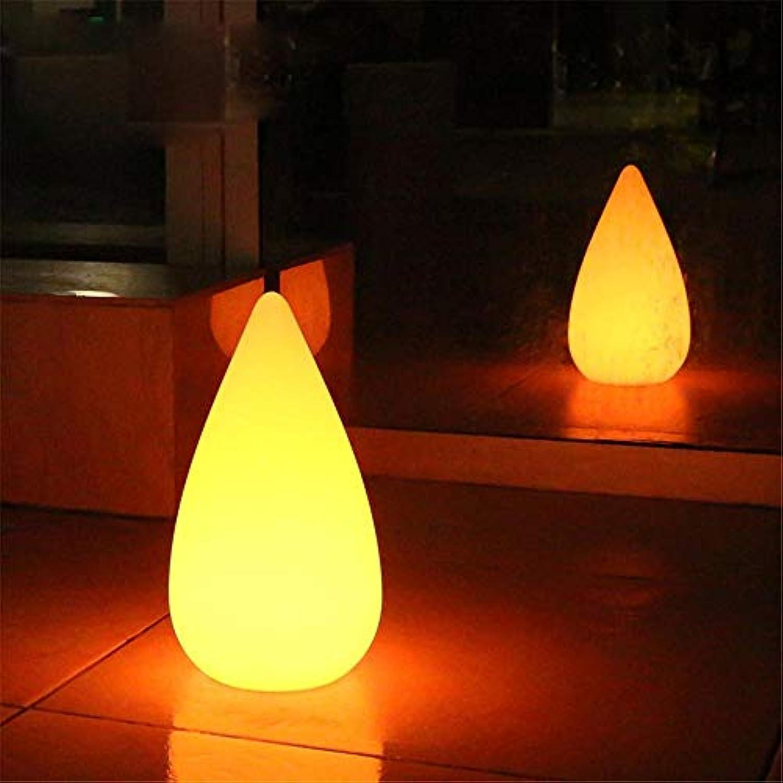 PoJu Emotionale licht fernbedienung nachtlicht LED tischlampe kreative wassertropfen form bunte farbe restaurant bar dekoration beleuchtung [Energieklasse A ++] (Größe   D20h36cm)