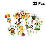 Amosfun Circo Animal Cake Toppers Circo Cupcake Topper Circo a Tema Party Supplies per Bam...