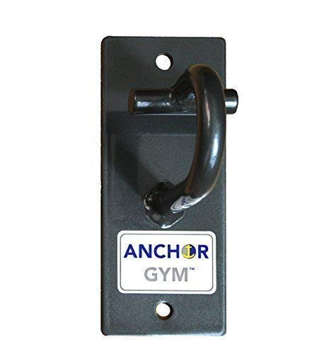 Anchor Gym H1 Workout Wall Mount Strap Anchor | Wall, Ceiling Mounted Hook Exercise Station for Bodyweight Straps, Resistance Bands, Strength Training, Yoga, Home Gym-Wood Screws Included