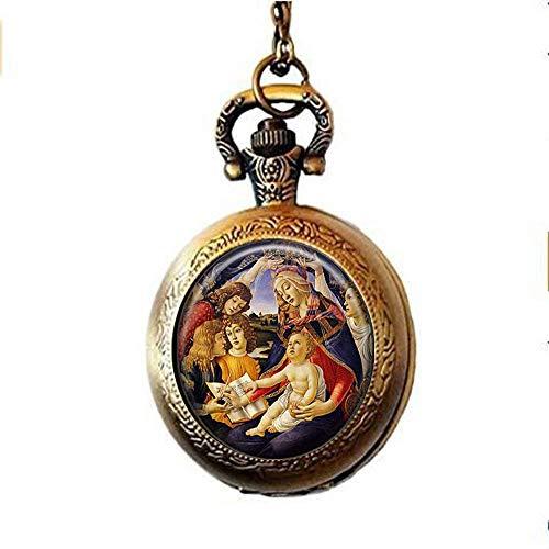 Nuestra Señora de Guadalupe Reloj de bolsillo Collar Sagrado Corazón