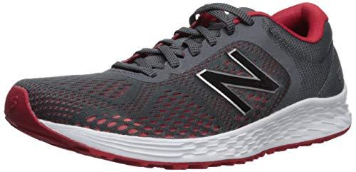 New Balance Men's Fresh Foam Arishi V2 Running Shoe, Grey/Team Red, 9.5 M US