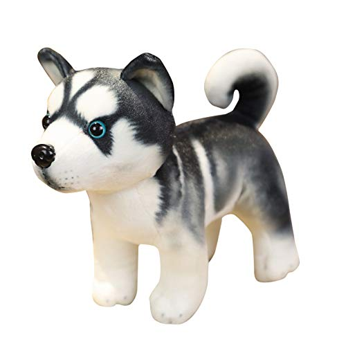 SCBFDI 3D-Simulation Husky Hundepuppe PlüSchtiere, PlüSchtierhunde, Die Kindern Spaß Machen, Simulationspuppen, Die Kinder Lieben