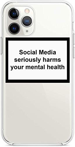 YENIGHT HYPExSTORE Social Media Seriously Harms Your MENTAL Health iPhone Cover CASE Tasche HÜLLE (iPhone 11 Pro Max)