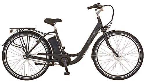 "Prophete Unisex– Erwachsene GENIESSER 20.ESC.30 City E-Bike 28\"" BLAUPUNKT VR-Motor, schwarz, RH 48"