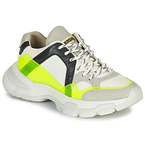 BRONX SEVENTY STREET Sneakers femmes Wit/Geel Lage sneakers