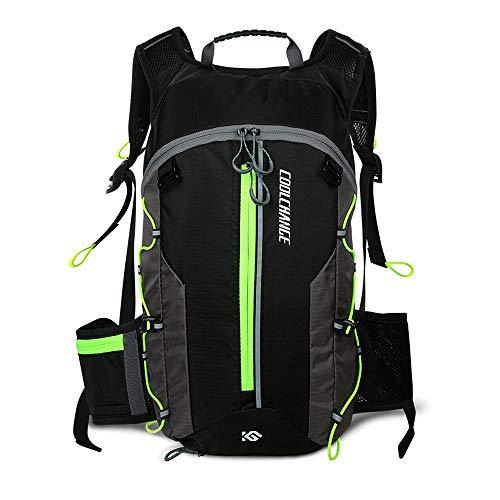 Valuetom Fahrradrucksack, leicht, atmungsaktiv, wasserdicht, mit reflektierenden Streifen, für Reiten, Laufen, Wandern, Klettern, Camping, Skifahren, Trekking und mehr (grün)