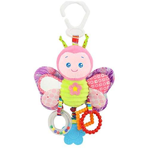 ZYCX123 Juguetes de la Felpa del traqueteo del bebé del niño del traqueteo del Asiento de Coche Cochecito Cuna Juego Juguete Colgando Interactivo y Educativo Juguetes Mariposa Productos para el Hogar