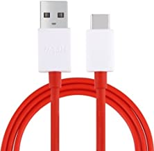 DUX DUCIS Cable para OnePlus 7 / 6T / 6 / 5T / 5 / 3T / 3, Dash Tipo C USB Cable De Datos Rápida Cable De Carga (5V/4A) (Rojo)