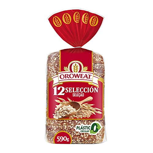 Oroweat - Pan Multicereales con Corteza, 12 Cereales y Semillas, 680gr , 16 Rebanadas