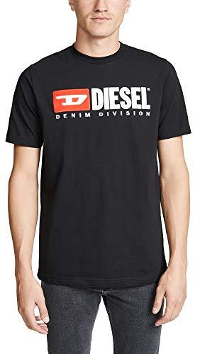 Diesel Herren T-JUST-Division T-SH T-Shirt, Schwarz (Black 900), XX-Large