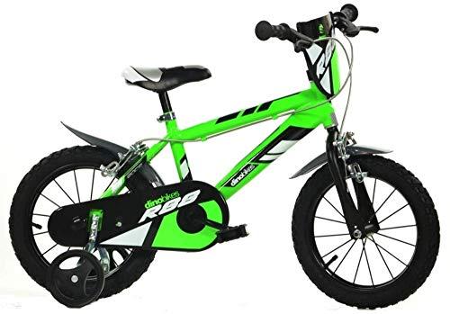 Dino Bikes Bici Bimbo 14' 4-7 anni verde