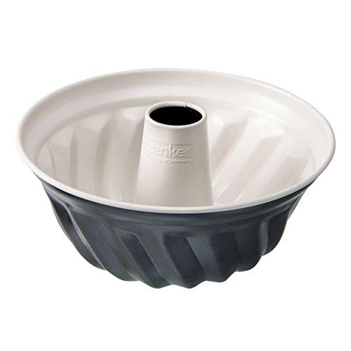 Zenker 7815 Gugelhupfform Crème Noir, Durchmesser 22 cm, Edelstahl, grau / beige, 22 x 22 x 11,5 cm