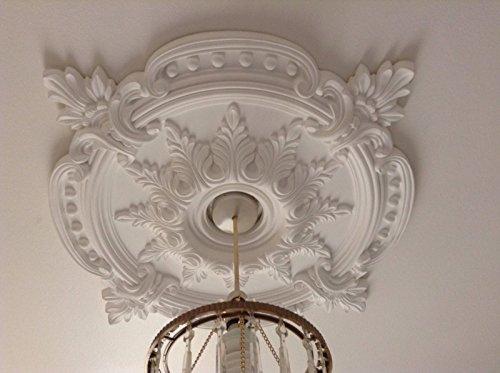 BARGAINWORLDUK - Medallón decorativo para techo, diseño victoriano, color blanco