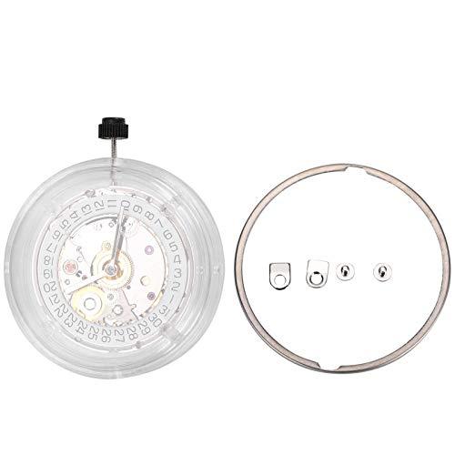 DAUERHAFT Durabilidad Movimiento automático Movimiento de Reloj para 2824 st2130 Reloj Mecánico Pieza de Reloj Mano de Obra Exquisita(NO.2824 White)