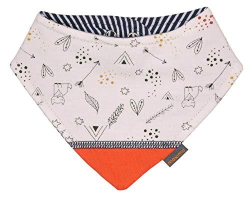 maximo Baby-Tuch, Unisex, Creme-schwarz-Fuchsia, mit Druckknopfverschluß, bedruckter Sweat mit Futter