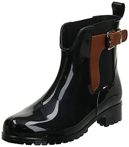 Tommy Hilfiger O1285XLEY 2Z2, Bottines Femme, Multicolore (Black-winter Cognac 990), 37 EU