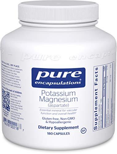 Pure Encapsulations - Potassium Magnesium (Aspartate) - Hypoallergenic Supplement to Support Heart, Muscular, and Nerve Health - 180 Capsules