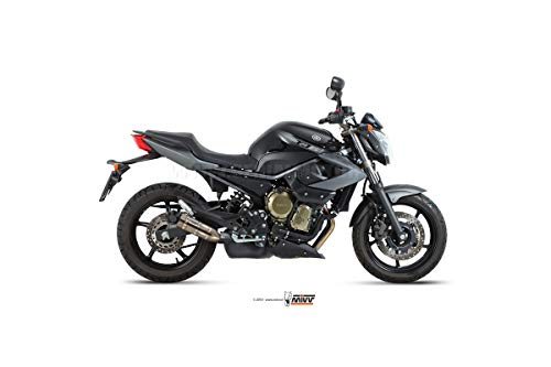 Mivv Y.032.LDG YAMAHA XJ6 / XJ6 DIVERSION 2009/2016 SLIP-ON AUSPUFF DOUBLE GUN FULL TITANIUM