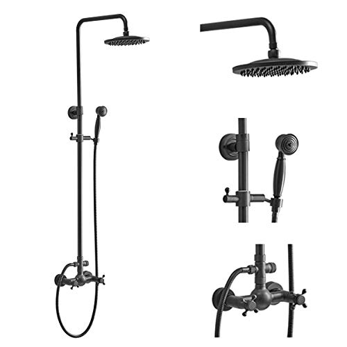Aquafaucet Bathroom Shower Faucet Set 8' Rain...