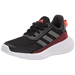 adidas Tensor Running Shoe, Core Black/Iron Metallic/Carbon, 12 US Unisex Little Kid