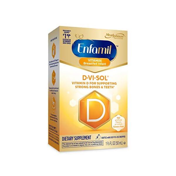 Enfamil Fer-in-Sol Iron Supplement Drops for Infants, 50 mL Dropper Bottle