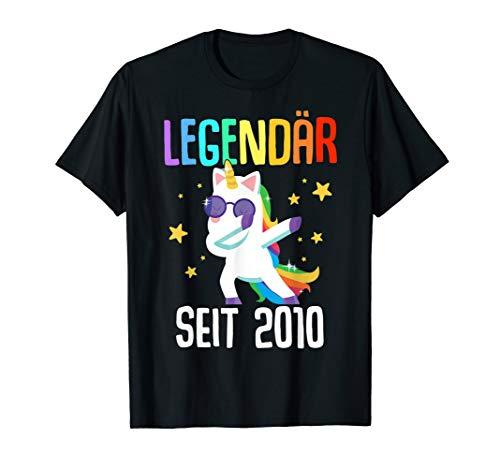 10. Geburtstag Junge Mädchen 10 Jahre 2010 Einhorn Geschenk T-Shirt