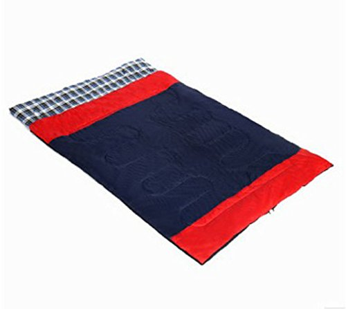 ZHANGHAOBO Outdoor Luxury Triple Double Couple Sac De Couchage Camping Extérieur Winter Warm Flannel Sleeping Bag,Red