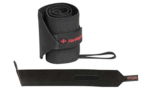 Harbinger Pro 20-Inch WristWraps with Thumb Loop for Weightlifting (pair)