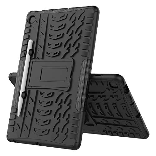 Galaxy Tab S6 Lite Case, Midcas Heavy Duty Dual Layer Hybrid Rugged Reinforced Corners Impact Protection Case Cover with Stand Function for Samsung Galaxy Tab S6 Lite 10.4' Black