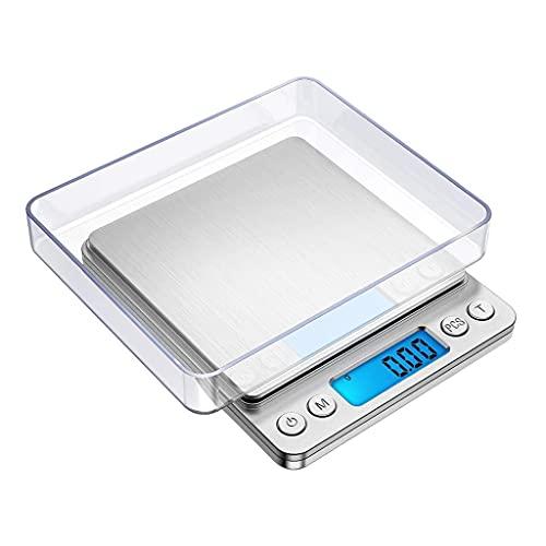 WZ 0.1G 0.01G Preciso Báscula Bolsillo Digital Mini Báscula Cocina Escala Gramos Joyería con Pantalla LCD Báscula Multifunción para Alimentos PCS Función Tara (Size : 1000g/0.1g)