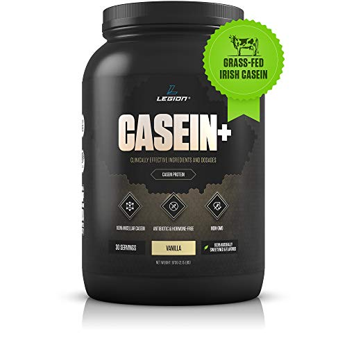 Legion Casein Vanilla Pure Micellar Casein Protein Powder  NonGMO Grass Fed Cow Milk Natural Flavors amp Stevia Low Carb Keto Friendly  Best Pre Sleep PM Slow Release Muscle Recovery Drink 2lb