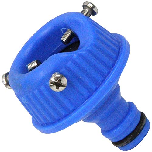 セフティー3 コイルホース用蛇口ニップル 適合ホース内径8mm ブルー
