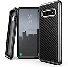 Raptic Lux, Samsung Galaxy S10 Plus (Formerly Defense Lux) - Military Grade Drop Tested, Anodized Aluminum, TPU, and Polycarbonate Protective Case, Samsung Galaxy S10 Plus, Black Carbon Fiber
