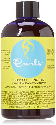 Curls - Blissful Lengths Liquid Hair Growth Vitamin 8oz - for Healthy Hair, Nails & Skin