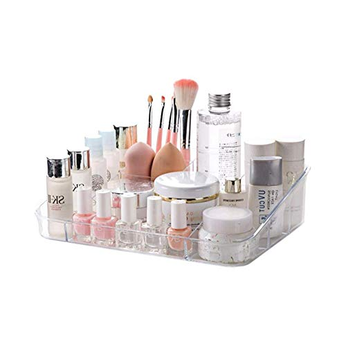 ZEIYUQI Makeup Organizer Waschbare Acryl Aufbewahrungsbox Makeup Box Einheiten Büro Schreibwaren Aufbewahrungshalter Für Badezimmer Schubladen Waschtische Arbeitsplatten