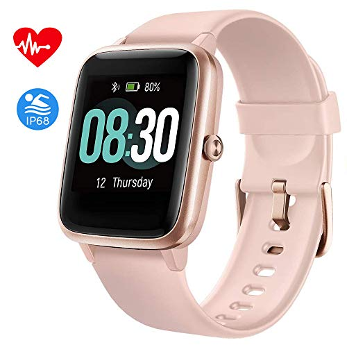 Fitpolo Fitness Tracker, Smart Watch Step Trackers with Heart Rate Monitor, IP68 Waterproof 1.4 Inch Color Touch Screen Activity Tracker wth Sleep Monitoring, Calorie Counter, Pedometer for Men Women